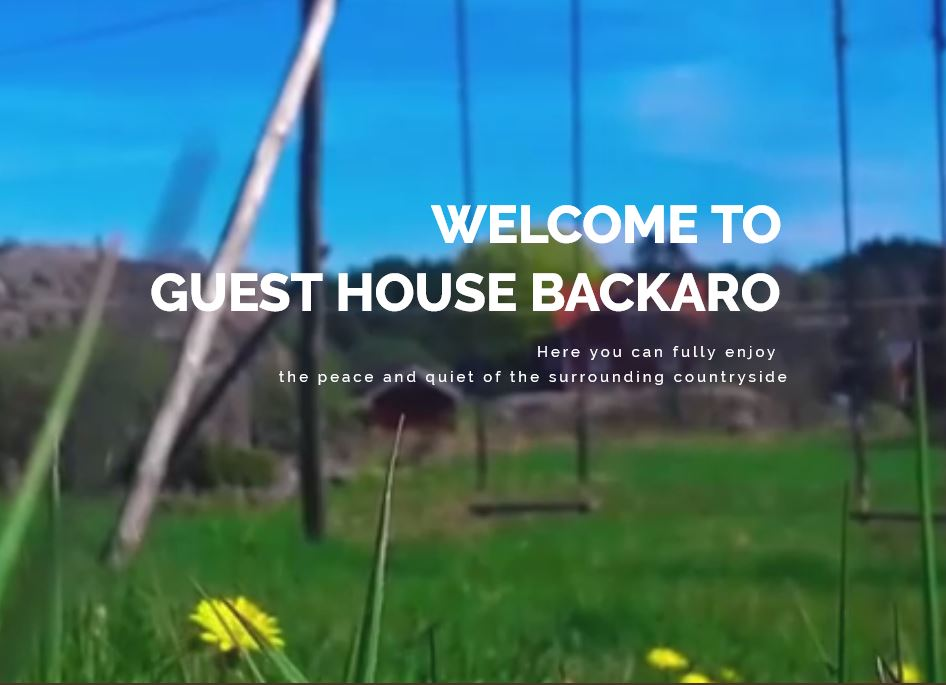 Welcome to Guest House Backaro, Finnish Archipelago